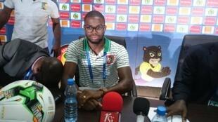 Sami, avançado da Guiné-Bissau, durante a conferência de imprensa em Libreville, 18 de Janeiro de 2017.