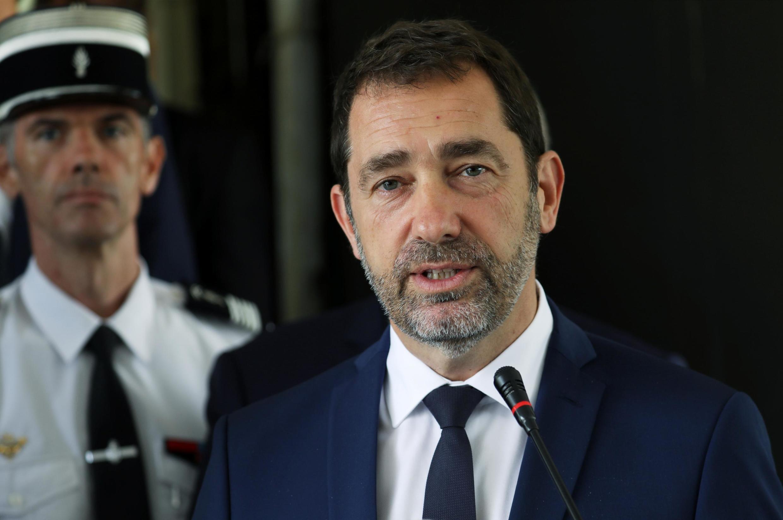 Le ministre français de l'Intérieur Christophe Castaner, en mai 2019 à Abidjan, lors d'une conférence de presse avec son homologue ivoirien Sidiki Diakite.