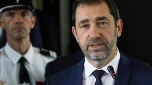 France's interior minister Christophe Castaner sporting a beard.
