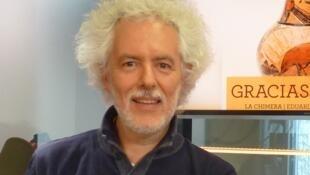 Eduardo Egüez en los estudios de RFI