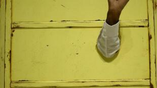 Hank Willis Thomas (né en 1976) : « Amandla » (détail), œuvre de 2013, exposée dans « The Color Line » au musée du quai Branly. Silicone, fibre de verre, métal. (Avec l'aimable autorisation de l'artiste et de la Jack Shainman Gallery, New York.)