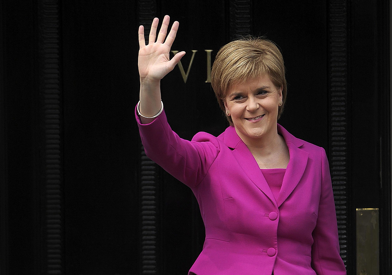 Nicola Sturgeon, Première ministre, leader du Parti national écossais, le 6 mai 2016 à Édimbourg.