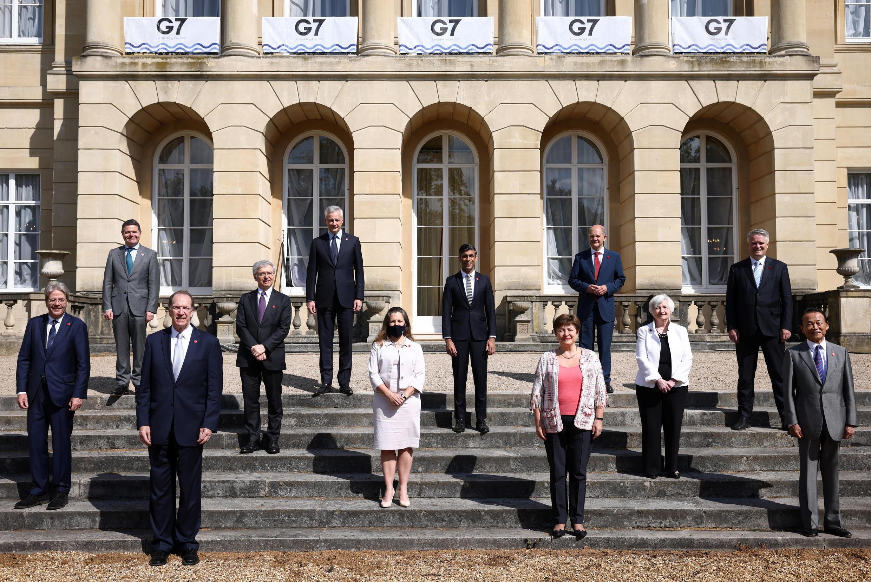 réunion G7 finances londres fiscalité entreprises