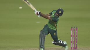On the attack: Fakhar Zaman smashed 193 but Pakistan lost to South Africa