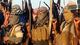 Des jihadistes de l'Etat islamique en Irak et au Levant, dans une vidéo de propagande datée du 8 juin 2014.
