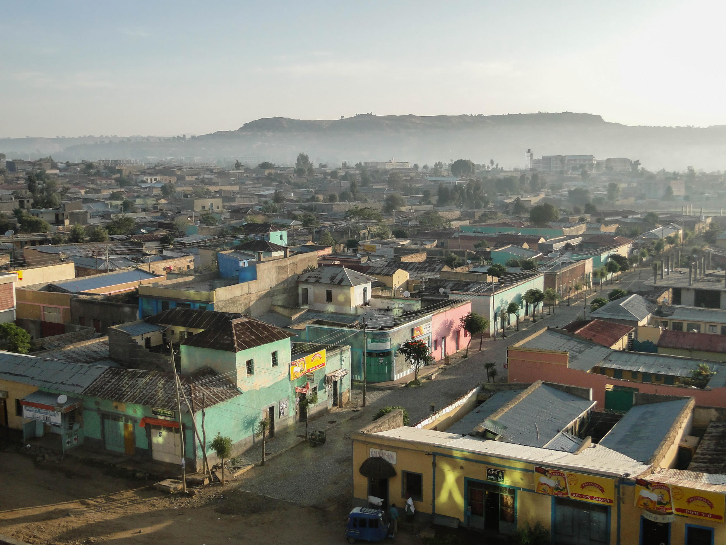 File photo of the city of Adigrat in the Tigray region, which was re-taken by theTPLF forces last month