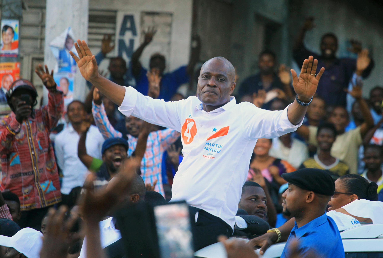 Mgombea wa upinzani  Martin Fayulu akiwa mjini Goma Desemba tarehe 6 2018