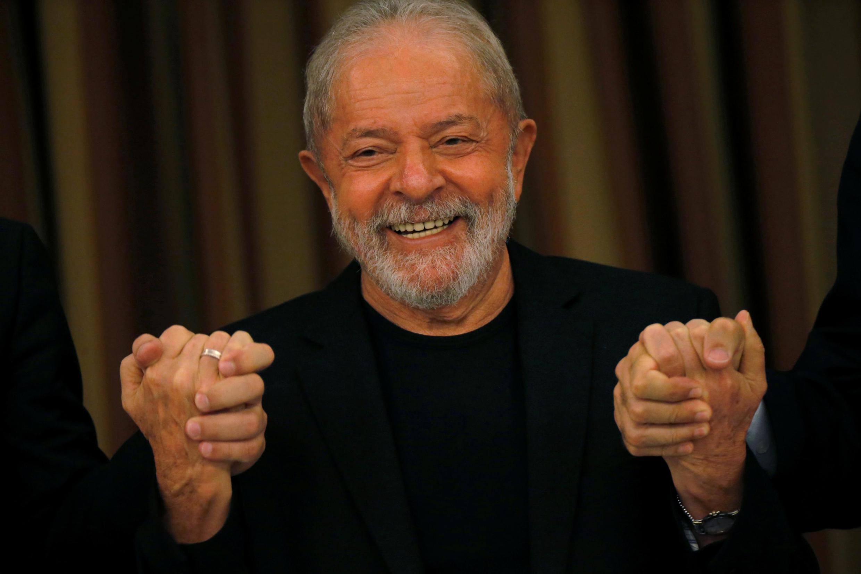 L'ancien président brésilien Luiz Inácio Lula da Silva, le 18 février 2020 lors d'une réunion des parlementaires du Parti des travailleurs, à Brasilia.