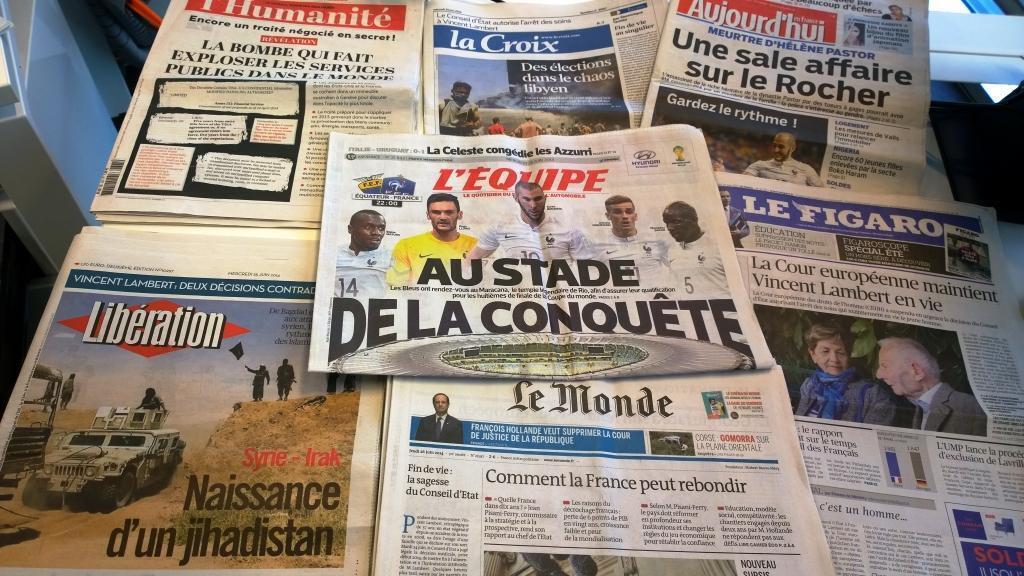 Diários franceses 25/06/2014