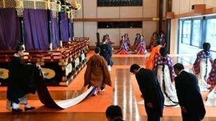 Quang cảnh nghi lễ đăng quang Nhật hoàng Naruhito tại hoàng cung, Tokyo, ngày 22/10/2019.
