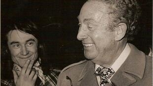 "Шарль Трене и Ален Мейан на фестивале ""Весна в Бурже"" 1977 г."