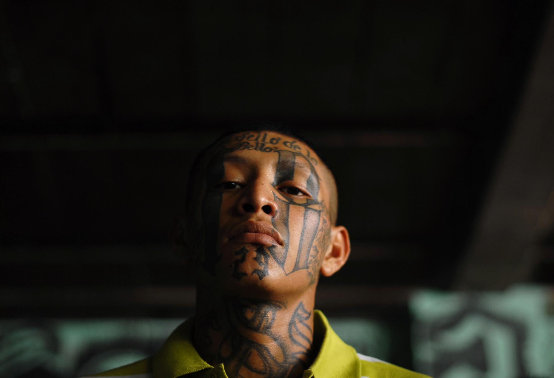Miembro de una Mara en una cárcel de Quetzaltepeque, este 2 de mayo de 2012.