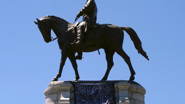 拆雕像,改校名,颠覆美国历史(photo:RFI)