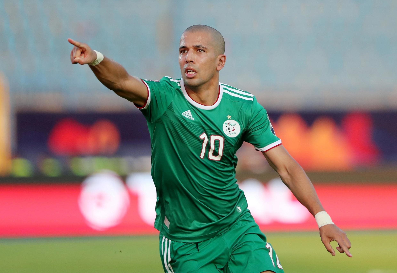 Sofiane Feghouli buteur avec l'Algérie contre la Côte d'Ivoire, le 11 juillet 2019.