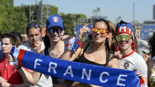 Hinchas franceses.