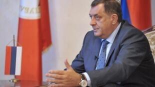 Milorad Dodik, président de l'entité serbe en Bosnie-Herzégovine.