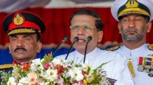 Le président Maithripala Sirisena a annoncé la dissolution du Parlement (photo prise le 29 mai 2015)