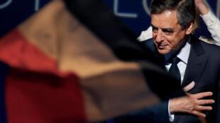 François Fillon, candidato às eleições presidenciais. 4 de Março de 2017.