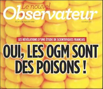 La couverture du Nouvel Observateur.