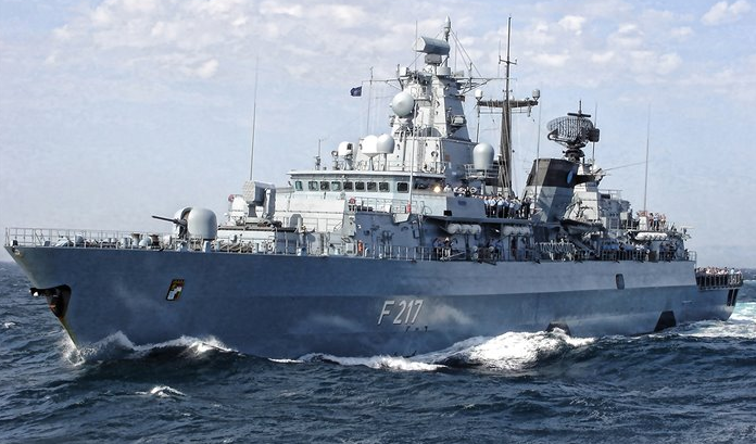 """德國海軍""""巴伐利亞""""號護衛艦資料圖片"""