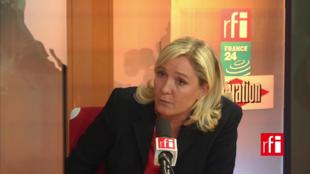 Marine Le Pen, presidente do partido Frente Nacional.