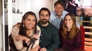 El trío Tamara Austral con Jordi Batallé en RFI
