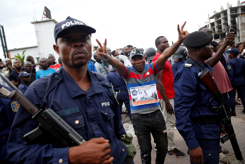 Apoiantes de Félix Tshisekedi festejam vitória sob forte presença de segurança, 10 de Janeiro