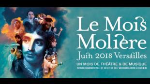 """آفیش جشنواره """"ماه مولیر"""" در ورسای که هرساله در ماه ژوئن در این شهر برگزار میشود."""