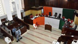 A l'intérieur du Palais de justice d'Abidjan, le 13 janvier 2015.