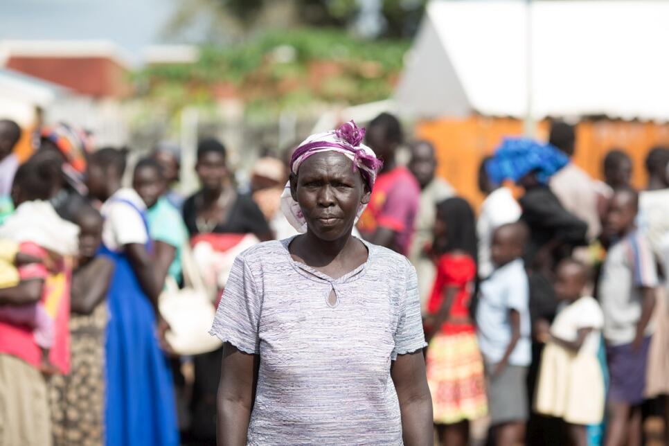 Regina Keji, 54 ans, réfugiée sud-soudanaise en Ouganda.