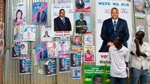 Electoral posters in Lubumbashi