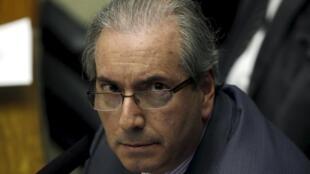 O presidente da Câmara dos Deputados, Eduardo Cunha, maior inimigo da presidente Dilma, segundo Le Monde.