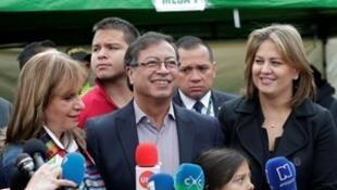 哥倫比亞左派進步主義運動黨候選人古斯塔沃·彼得羅。2018-05-27