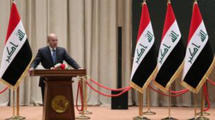 Barham Saleh, le 2 octobre 2018 à Bagdad.