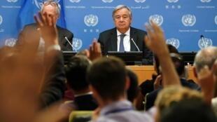 Ảnh minh họa: Tổng thư ký Antonio Guterres trong một cuộc họp báo tại trụ sở LHQ, New York. Ảnh ngày 18/09/2019.