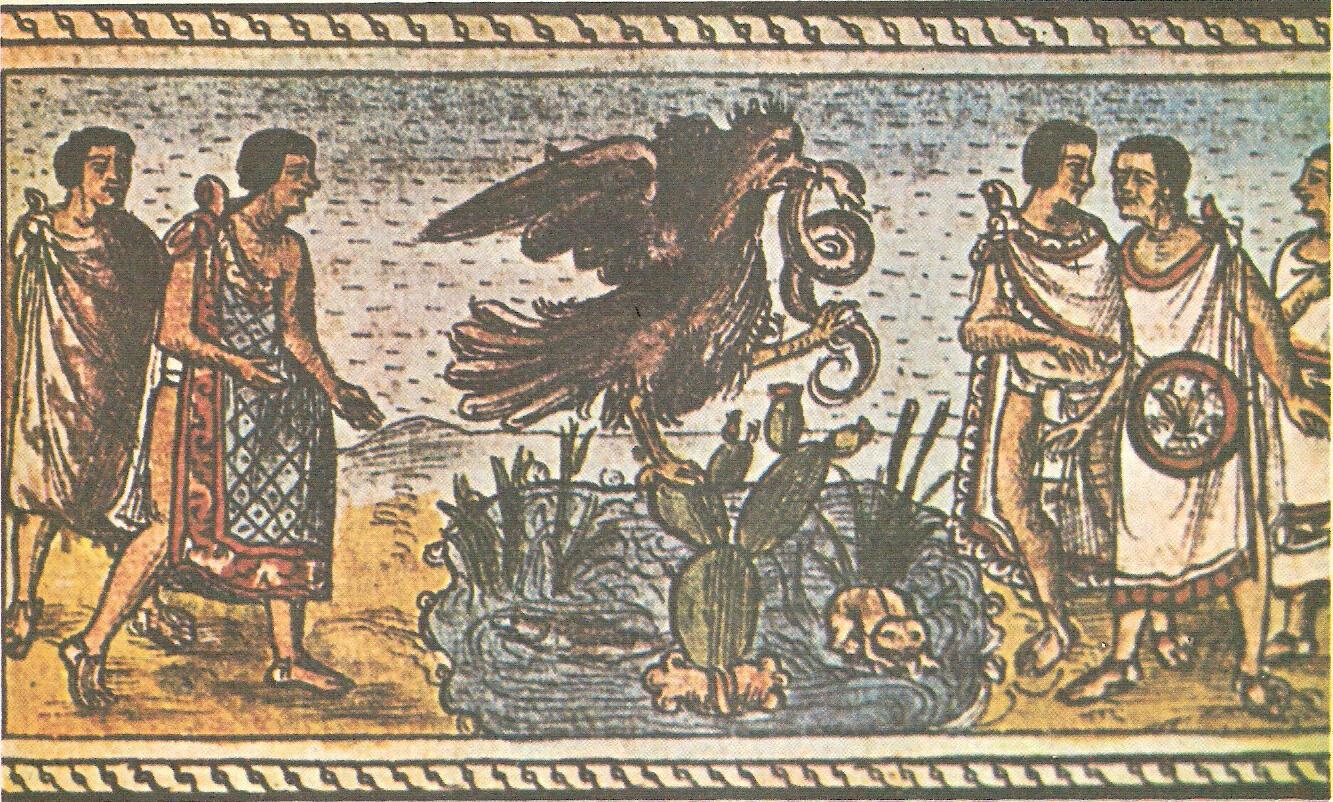 Fundación de México-Tenochtitlán, Códice Durán, siglo XVI.