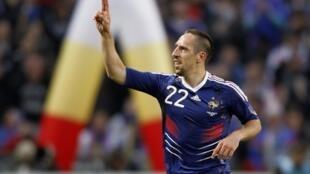 Franck Ribéry during the match.