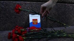 Акция в Санкт-Петербурге против поправок в Конституцию РФ. 15 марта 2020.