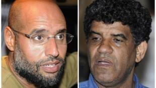 Сын Муаммара Каддафи Сейф аль-Ислам (слева) и бывший глава ливийских спецслужб Абдаллах аль-Сенусси