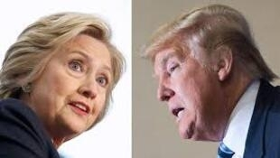 Hillary Clinton ta Democrat da Donald Trump na Republican