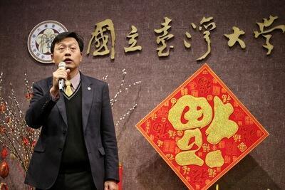 台大代理校長郭大維(圖)2018年2月22日主持台灣大學新春團拜時表示,代理校長已進入第8個月,希望過渡期間儘快告一段落。