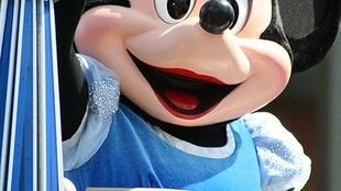 Minnie Mouse at parade in UK