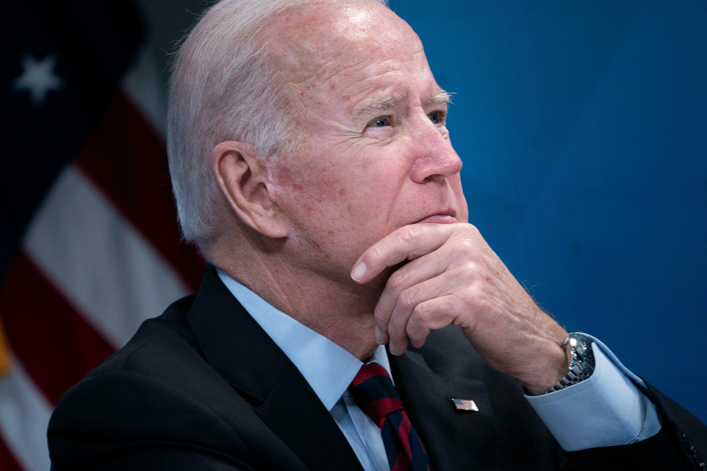 US President Joe Biden, pictured August 30, 2021, has unsuccessfully pressed to wind down the Afghanistan war while serving as vice president under Barack Obama