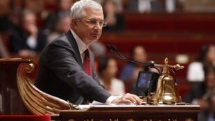 Председатель (спикер) Национального собрания Франции Клод Бартолон на сессии 11/09/2012