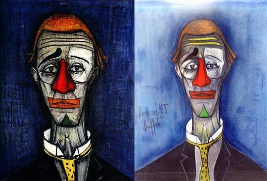 Бернар Бюффе : слева - подлинник, справа - подделка
