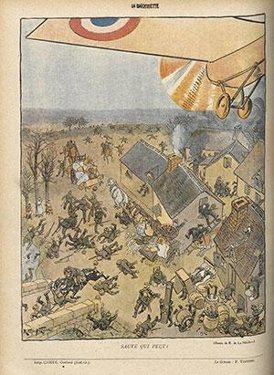 Dessin publié dans le journal «La Baïonnette» pendant la Première Guerre mondiale.