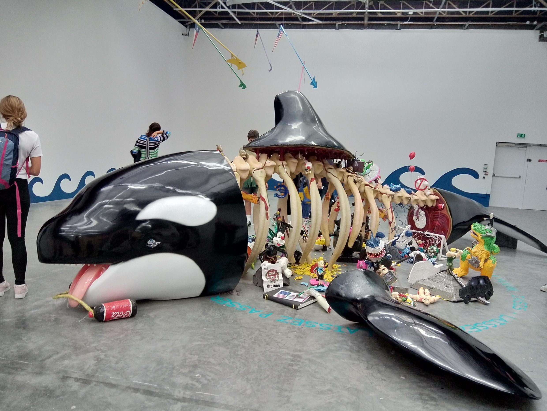 """""""Sa la na, a yuum, iasis, laissez faire, laissez passer"""", by Mexico City based Biquini Wax collective, in Prince.s.esse.s des Villes Exhibition Palais de Tokyo, Paris, June-Sept. 2019"""