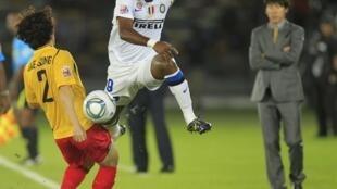 Le Camerounais de l'Inter Milan, Samuel Eto'o.