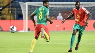 Le Camerounais André-Frank Zambo-Anguissa (à gauche) lors de la CAN 2019.