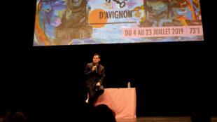 Le directeur du Festival d'Avignon, Olivier Py, lors de la présentation de l'édition 2019 à Paris.